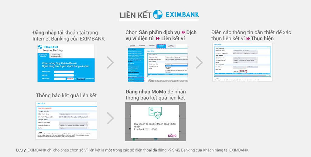 Hướng dẫn liên kết EXIMBANK