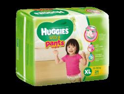 Tã Quần Huggies Ultra Pant Bé Gái XL (24 Miếng)-P