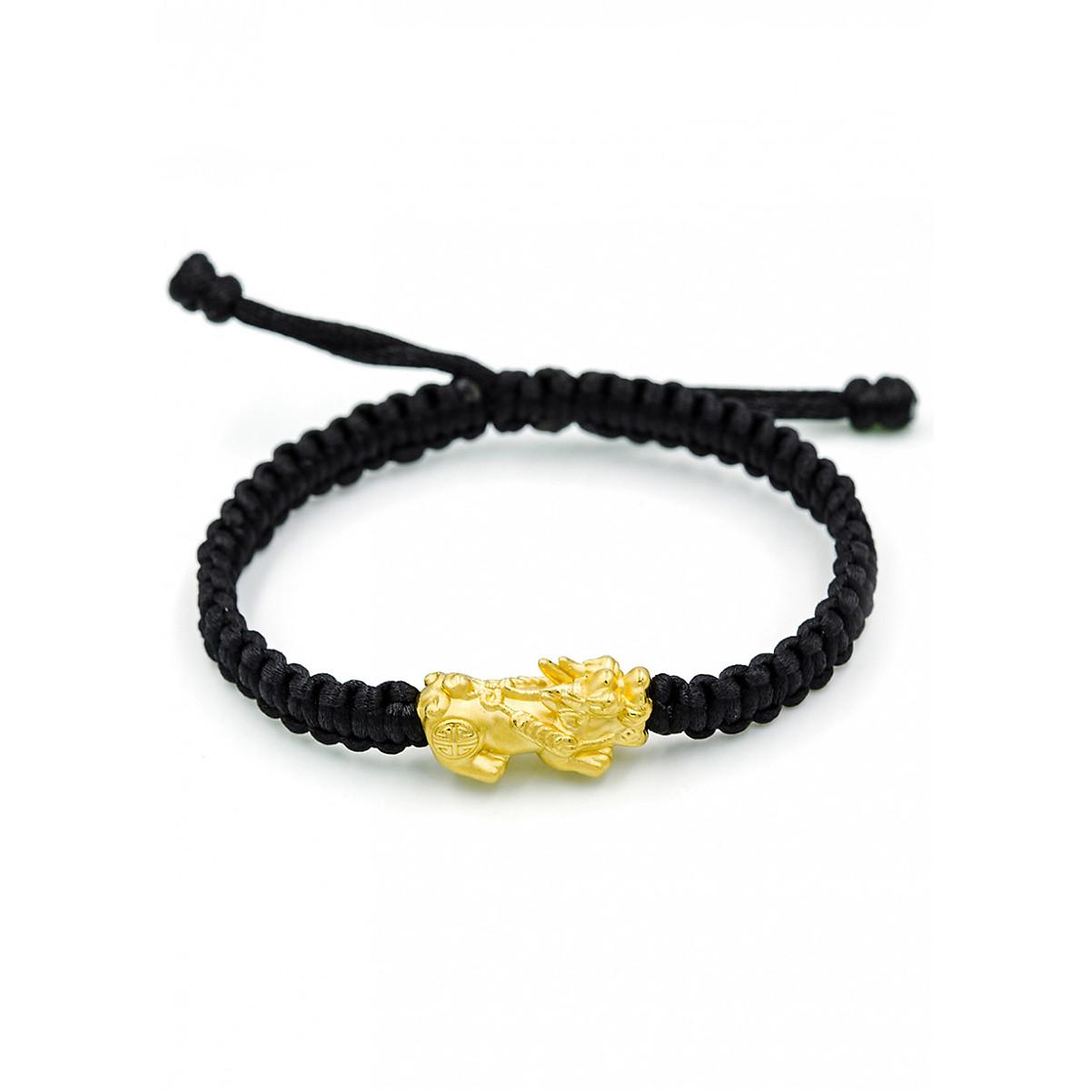 Hình đại diện sản phẩm Charm Vàng 24K Tỳ Hưu Tụ Lộc size Trung Ancarat - Tặng kèm vòng tay Handmade