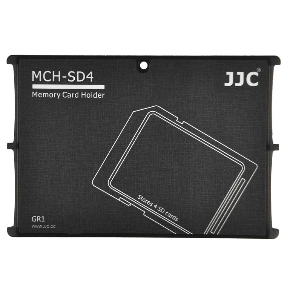 JJC MCH-MSD10GR ultra-thin memory card holder SLR camera memory card holder TF card digital portable storage card package card cartridge (can put 10 MSD / TF card)