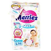 Biểu đồ lịch sử biến động giá bán Tã/Bỉm Dán Merries Size L 54 miếng (dành cho bé 9 - 14 kg)
