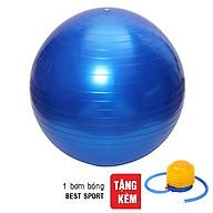 Bóng Tập Yoga Trơn Best Sport DK075XANH (75cm) - Xanh Dương + Tặng Kèm Bơm thumbnail