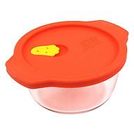 Hộp Thủy Tinh Chịu Nhiệt Lock&Lock Rice Container LLG506R (460ml) - Nắp Đỏ thumbnail