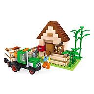 Đồ Chơi Lắp Ráp Ausini - Nông Trại Vui Vẻ - Nhà Trang Trại 28502 (210 Mảnh Ghép) thumbnail