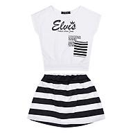 Bộ Đồ Bé Gái Elvis Túi Sọc Trắng Đen CIRINO BD_ELVES_XDSK_005 thumbnail
