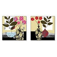 Tranh Đồng Hồ Treo Tường Bộ Đôi Thế Giới Tranh Đẹp 001CY thumbnail