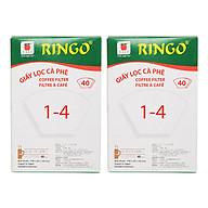 Bộ 2 Giấy Lọc Cà Phê Ringo 1 x 4 (Hộp 40 Tờ) - Trắng thumbnail