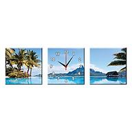 Bộ Ba Tranh Đồng Hồ Treo Tường Thế Giới Tranh Đẹp Q16-51-DH thumbnail