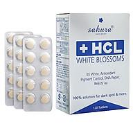 Thực Phẩm Chức Năng Hỗ Trợ Giảm Nám Dưỡng Trắng Da Sakura HCL White Blossom (120 Viên) thumbnail
