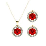 Bộ Trang Sức Đính Pha Lê Hình Vuông Crystal PNQ S16014 thumbnail