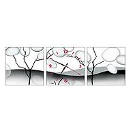 Tranh Đồng Hồ Treo Tường 3 Tấm Thế Giới Tranh Đẹp CX0082-DH thumbnail
