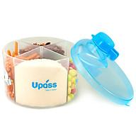 Hộp Chia Sữa Tròn 4 Ngăn Không BPA Upass UP8005CX Xanh Da Trời thumbnail