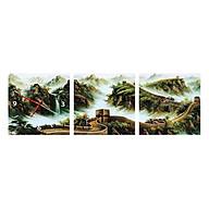 Tranh Đồng Hồ Treo Tường 3 Tấm Thế Giới Tranh Đẹp FJ0078-DH thumbnail