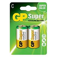 Pin Super GP GP14A-2U2 Alkaline C (2 Viên Vỉ) - Hàng Chính Hãng thumbnail