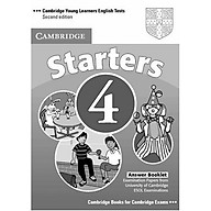 Cambridge Young Learners English Tests Starters 4 Answer Booklet Examination Papers from the University of Cambridge ESOL Examinations thumbnail