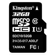 Thẻ Nhớ Micro SDHC Kingston 32GB Class 10 UHS-I SDC10G2 32GBSPFR - Hàng Chính Hãng thumbnail