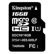 Thẻ Nhớ Micro SDHC Kingston 16GB Class 10 UHS-I SDC10G2 16GBSPFR - Hàng Chính Hãng thumbnail