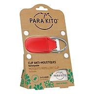 Viên Chống Muỗi PARA KITO Kèm Móc Cài Màu Đỏ (Loại 2 Viên) - PARA KITO Mosquito Repellent Red Clip With 2 Tablets - PCLIP03 thumbnail