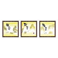 Tranh Thư Pháp Bộ 3 KHÍ - TÀI - TÂM V44-12 (46 x 46 cm) Thế Giới Tranh Đẹp thumbnail