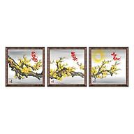 Tranh Thư Pháp bộ 3 PHÚ QUÝ- TÀI LỘC- AN KHANG (46 x 46 cm) Thế Giới Tranh Đẹp thumbnail