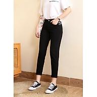 Quần jeans baggy nữ màu đen trơn đẹp VNXK - Đen - 26 thumbnail