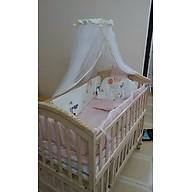 Nôi cho bé trọn bộ giường cũi, nệm xơ dừa và quây lót cũi hoàng gia. Phù hợp cho bé từ 0 đến 12 tuổi. thumbnail
