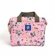 Túi giữ nhiệt đựng hợp cơm văn phòng KeepFood - VN203 - Hoa văn hồng thumbnail
