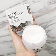 Kem dưỡng trắng da - Kem dưỡng da dưỡng ẩm bật tông 3W Clinic Crystal White Milky Cream Hàn Quốc 50gr thumbnail