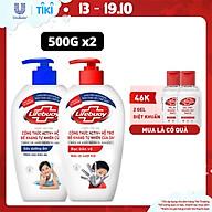 COMBO Nước rửa tay sạch khuẩn Lifebuoy Bạc Bảo Vệ 500G & Sữa Dưỡng Ẩm 500g thumbnail