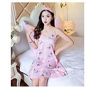 Đầm 2 dây mặc nhà,đồ ngủ họa tiết Haint Boutique Vn15 - thỏ hồng - M thumbnail