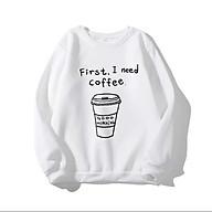 Áo Sweater in I Need Coffee (nhiều màu) thumbnail