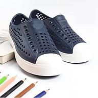 - Giày nhựa đi mưa, đi biển navy để trắng cực êm mềm nhẹ, không thấm nước thumbnail