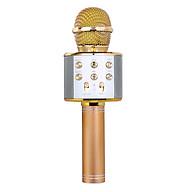 Professional BT Wireless Microphone Karaoke Speaker KTV Music Player Singing Recorder Handheld Microphone Rose Red thumbnail