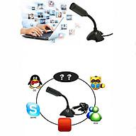 Micro Thu Âm Mini Chất Lượng Cao Chống Ồn, Live Stream, Hát Karaoke Quay Video, Ghi Âm, Vlog, Chơi Game, Học Online Trò Chuyện Qua Zoom Tương Thích Máy Tính Để Bàn PC Laptop Cổng USB thumbnail