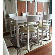 Bộ bàn ăn cabin 6 ghế trắng thumbnail