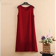 Đầm bầu Váy bầu chữ A đỏ đô DN19072803 thumbnail