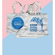 Combo 5 Túi xách Tote vải bố Canvas thời trang In họa tiết Cá heo GB-TCV01 thumbnail