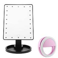 Gương Trang Điểm Đèn Led Để Bàn - Tặng Đèn Led Selfie (Giao Màu Ngẫu Nhiên) thumbnail
