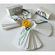 combo 500 thẻ flashcard trắng 3,5x8cm bo tròn 4 góc học hoại ngữ, tặng 10 khoen inox 10 bìa thumbnail