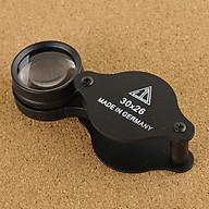 Kính lúp cầm tay 30 lần cao cấp (30x26, MADE IN GERMANY) - Tặng kèm đèn pin bóp tay mini (màu ngẫu nhiên) thumbnail