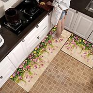Bộ thảm bếp nỉ nhung lì cao cấp chống trượt dễ dàng vệ sinh, in 3D phong cách Hàn Quốc cho phòng bếp hiện đại thumbnail