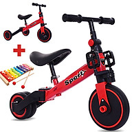 Xe thăng bằng - xe đạp 3 bánh đa năng cho bé. Xe thăng bằng có bàn đạp kết hợp xe chòi chân Sport cho bé - TẶNG KÈM ĐÀN XYLOPHONE 8 THANH CHO BÉ thumbnail