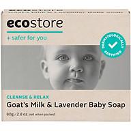 Bánh Xà Phòng Cho Bé Từ Sữa Dê Và Hoa Oải Hương Gốc Thực Vật Ecostore 80g thumbnail