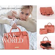 Túi xách nữ cao cấp - Túi đựng cả thế giới - big size - Phong cách Pháp - Hàng nhập khẩu trực tiếp - Màu Hồng da thumbnail