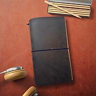 Sổ da Midori Màu Ngựa Điên size regular 23x12 gồm 3 ruột sổ Trắng trơn thumbnail