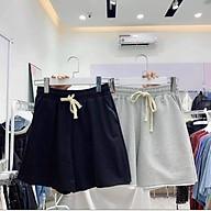 QUẦN THUN LỬNG TRƠN ỐNG RỘNG CHẤT DA CÁ AZURA FASHION, Quần Short Lửng Đen Trơn cartoon 3D CUTE, quần đùi nữ thumbnail