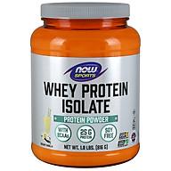 Whey Protein Isolate, Creamy Vanilla Powder Bổ sung 25g Đạm chất lượng cao có các axit amin chuỗi nhánh (BCAAs) có khả năng hấp thụ nhanh và dễ tiêu hóa dành cho người luyện tập thể thao (816 gram) thumbnail