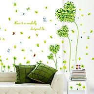 Decal dán tường trang trí quán cafe, văn phòng- Trái tim xanh- mã sp DAY7118 thumbnail