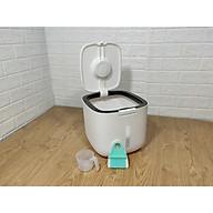 Thùng đựng gạo thông minh tặng bộ chổi vệ sinh bếp có nam châm hít thiết kế dạng nhấn nút, chất liệu ABS cao cấp (giao màu ngẫu nhiên) thumbnail