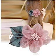 Kẹp tóc, cài tóc bông hoa- Cài tóc cô dâu- Kẹp tóc đuôi ngựa vải hoa phong cách thanh lịch, sang trọng, chọn mẫu theo ý- Kẹp tóc hoa vải thumbnail